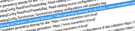 Fixing the 'Failed generating sitemap for site' error in SharePoint 2013
