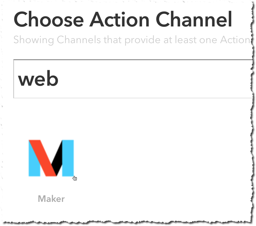 IFTTT Maker action