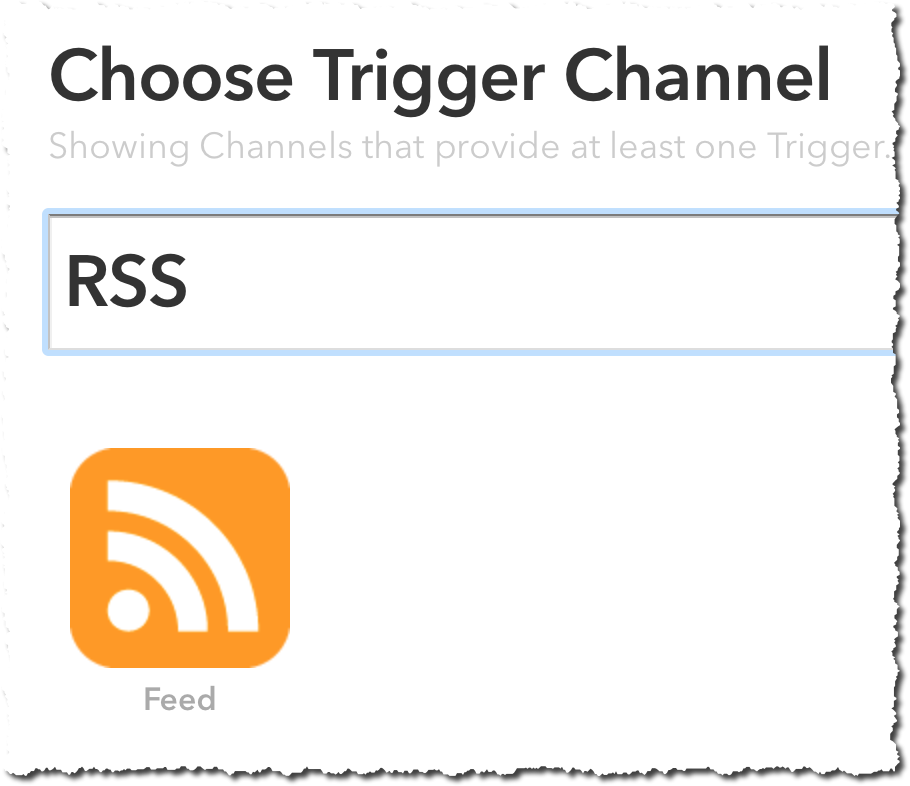 IFTTT Feed Channel