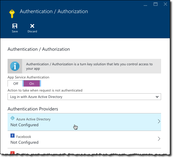 Configuring multi-tenant authentication with Azure App