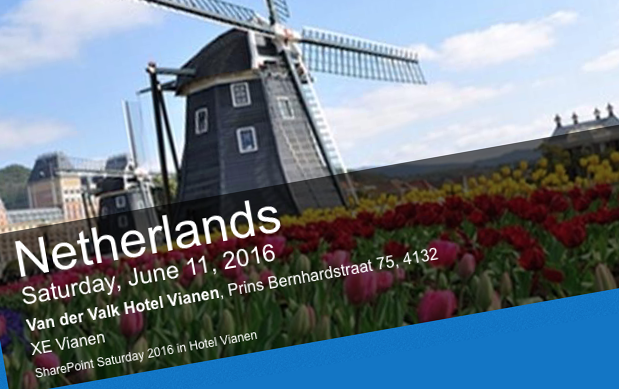 Presenting at SharePoint Saturday Netherlands 2016