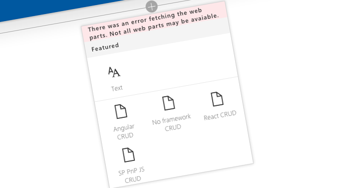 SharePoint CRUD operations in SharePoint Framework client-side web parts