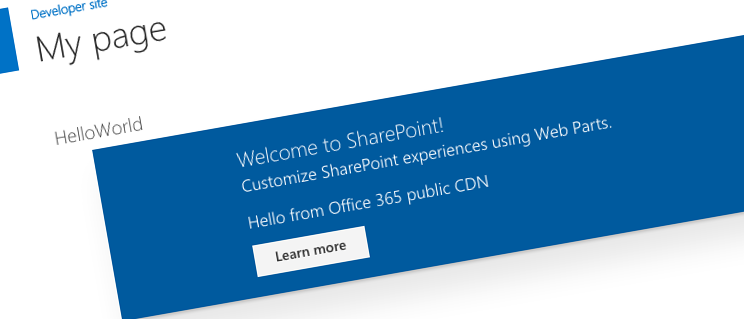 Publish SharePoint Framework client-side web parts to Office 365 public CDN