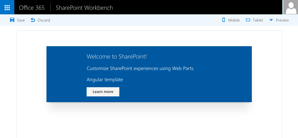 Client-Side Web Part built using Angular loading its HTML template from a URL displayed in the SharePoint Workbench