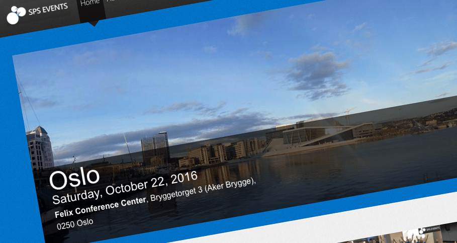 SharePoint Saturday Oslo 2016 presentation slides available
