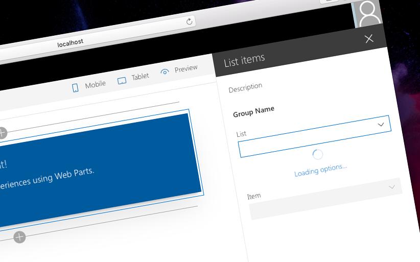Build custom controls for the SharePoint Framework web part