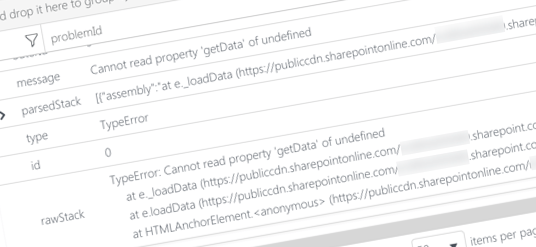 Inconvenient logging exceptions in SharePoint Framework