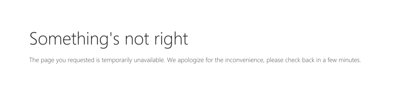Throttling error page displayed in SharePoint