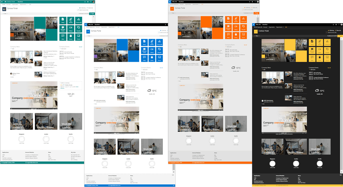 Screenshot of the SharePoint Starter Kit home page