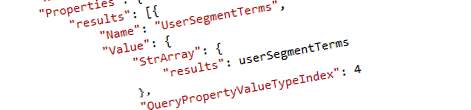 Inconvenient Content Targeting with User Segments in Search REST API