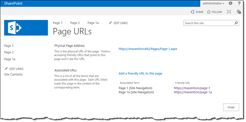 Multiple friendly URLs associated with a single page in SharePoint 2013