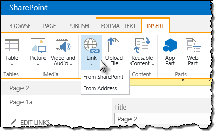 Options for inserting hyperlinks in SharePoint 2013 Rich Text Editor