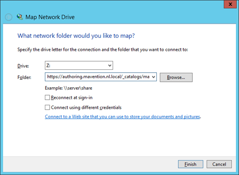 Mapping Master Page Gallery as a network drive