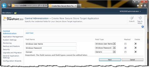 Configuring Fields for the Target Application
