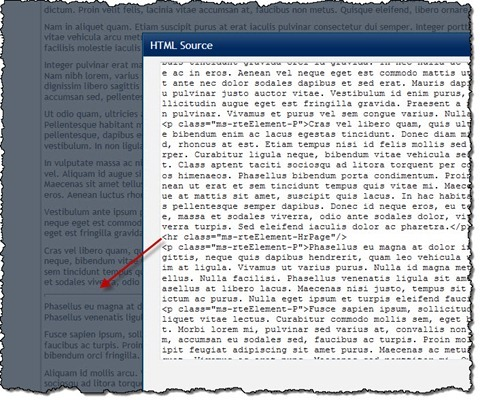 A long article page in editing mode with a few page breaks displayed as horizontal lines