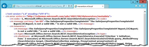 Error message displayed when calling the SharePoint 2013 Search REST API as an anonymous user without having enabled it first
