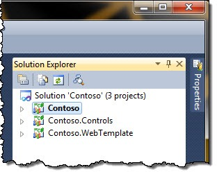 Sample project structured showed in Visual Studio 2010 Solution Explorer