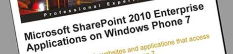Microsoft SharePoint 2010 Enterprise Applications on Windows Phone 7–book review