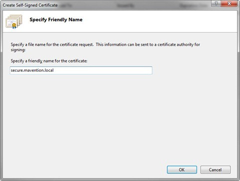 Creating Self-Signed certificate in IIS7