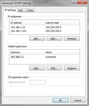 Multiple IP addresses assigned to a single network adapter