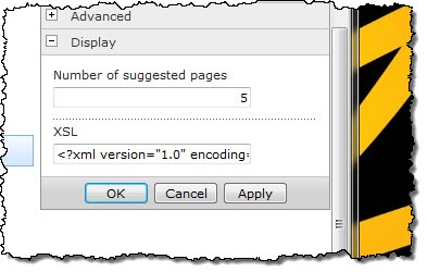 Configuring the number of suggested pages to be displayed in the properties of the Suggested Pages Web Part