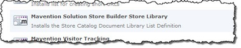 Mavention Solution Store Builder Store Library Site Collection Feature