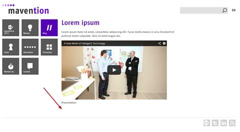 Publishing page with two widgets published using the search-driven publishing model. Only YouTube video is displayed