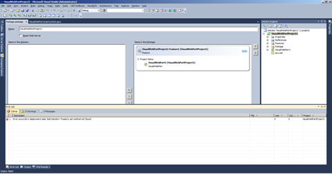 Error while deploying a WSP with CAS with the new Visual Studio 2010 SharePoint Developer Tools