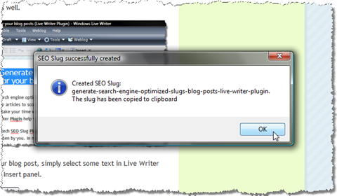 Generate a search engine optimized slug and copy it to the clipboard