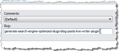 Paste the generated slug into the Slug field in the post properties