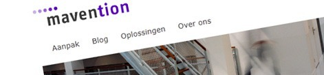 Header of the www.mavention.nl website.
