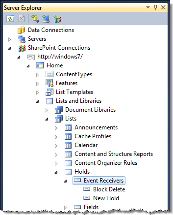 Exploring List Event Receivers using the Imtech List EventReceivers Extension