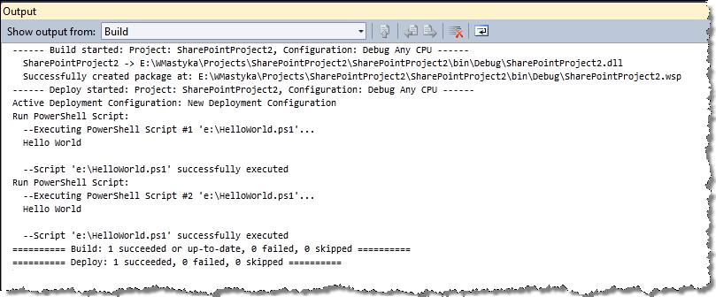 Imtech Run PowerShell Script Deployment Step - Waldek