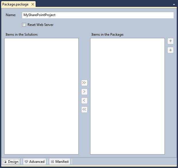 Including additional assemblies in the WSP with Visual