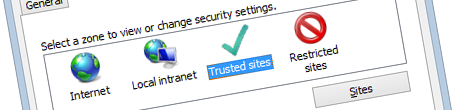 Inconvenient Internet Explorer security zones and Azure AD web applications