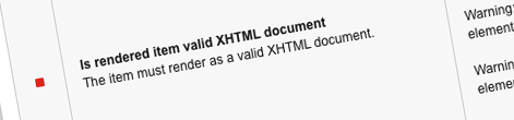 Inconvenient XHTML validation in Sitecore 8 XP