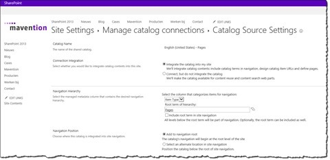 SharePoint 2013 Catalog Connection Wizard