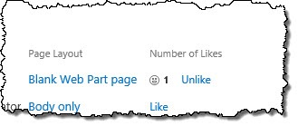 The 'Number of likes' column in a List View in SharePoint 2013