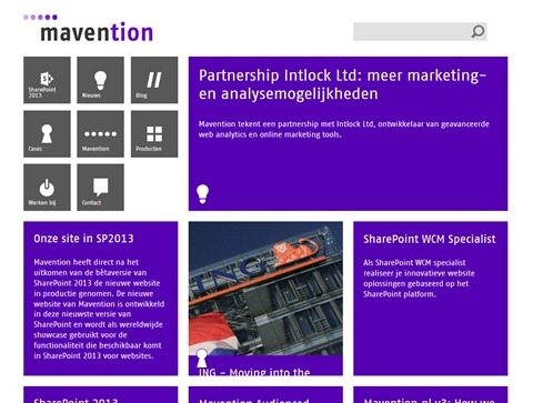 Mavention.nl site