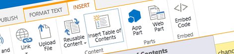 Mavention Insert Table of Contents App for SharePoint
