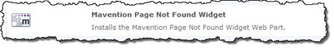 Mavention Page not found widget Site Collection Feature.