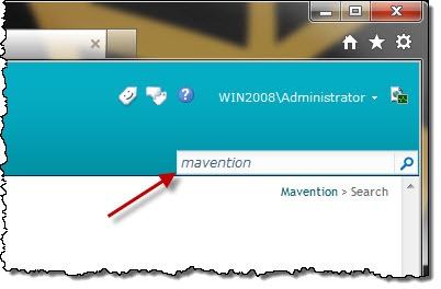 Searching for 'mavention' on a standard SharePoint 2010 Publishing Site