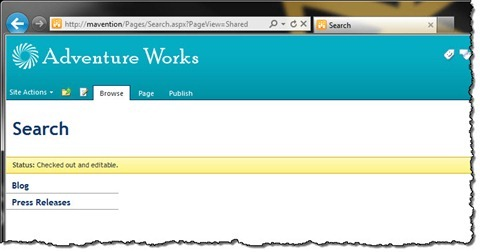 Empty Publishing Page in SharePoint 2010
