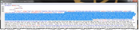 Clear HTML output of the Content Query Web Part after optimizing the ContentQueryMain.xsl file