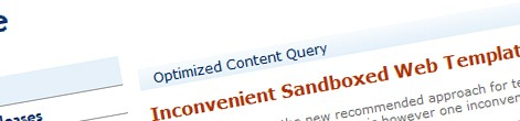 Optimizing the output of the Content Query Web Part