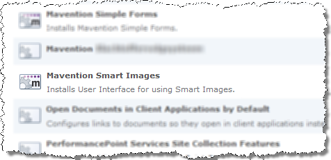 Mavention Smart Images Site Collection Feature