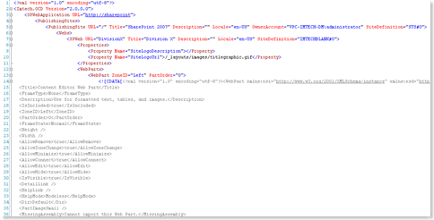 OCD XML Fragment