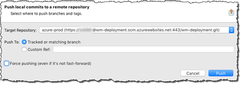 Pushing changes to the azure-prod repository