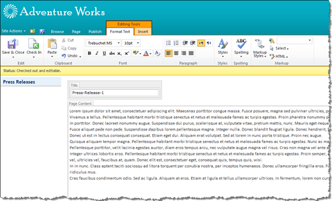 Rich Text Editor in SharePoint 2010: sometimes more is not necessarily what you want
