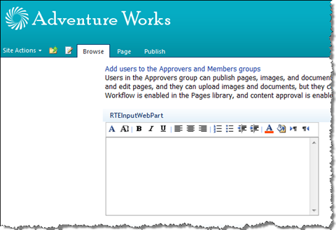 Custom Web Part with Rich Text Editor control with its own toolbar